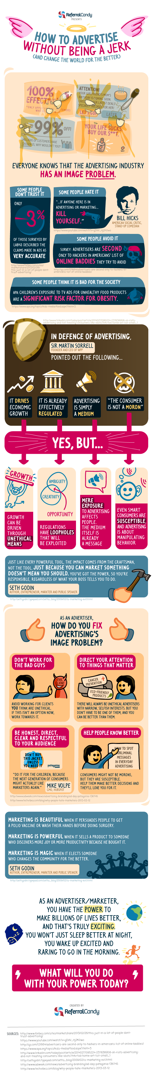 How to advertise without being a jerk (and change the world for the better) [Infographic]