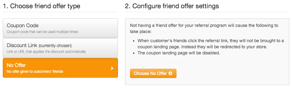 Friend Offer - No Offer