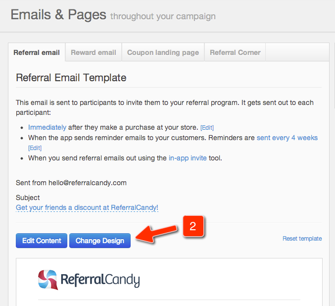 Referralcandy Change The Layout And Design Of Campaign